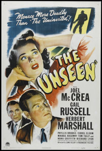 "The Unseen (Paramount, 1944). One Sheet (27"" X 41""). Mystery. Directed by Lewis Allen. Starring Joel McCrea, G..."