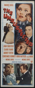 "Movie Posters:Film Noir, The Unsuspected (Warner Brothers, 1947). Insert (14"" X 36""). Mystery. Directed by Michael Curtiz. Starring Joan Caulfield, C..."