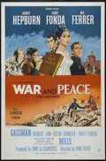 "Movie Posters:Drama, War and Peace (Paramount, 1956). One Sheet (27"" X 41""). Historical Drama. Directed by King Vidor. Starring Audrey Hepburn, H..."
