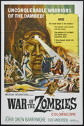 "Movie Posters:Horror, War of the Zombies (AIP, 1964). One Sheet (27"" X 41""). Horror. Directed by Giuseppe Vari. Starring John Drew Barrymore, Susi..."