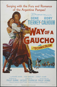 """Way of a Gaucho (20th Century Fox, 1952). One Sheet (27"""" X 41""""). Adventure. Directed by Jacques Tourneur. Star..."""
