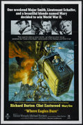 "Movie Posters:War, Where Eagles Dare (MGM, 1968). One Sheet (27"" X 41""). War. Directedby Brian G. Hutton. Starring Richard Burton, Clint Eastw..."