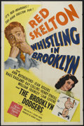 """Movie Posters:Comedy, Whistling in Brooklyn (MGM, 1943). One Sheet (27"""" X 41""""). Comedy. Directed by S. Sylvan Simon. Starring Red Skelton, Ann Rut..."""