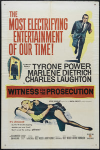 """Witness for the Prosecution (United Artists, 1957). One Sheet (27"""" X 41""""). Mystery. Directed by Billy Wilder..."""