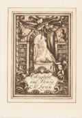 Books:Americana & American History, [Bookplates]. Four Bookplates Designed by Rex Whistler. [Britain,mid-20th C.]. ...