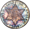 Three Cent Silver, 1866 3CS MS67 PCGS. CAC....