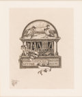 Books:Americana & American History, [Bookplates]. Six Bookplates with Remarques. [N.p., n.d.]....