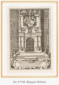 Books:Americana & American History, [Bookplates]. Six Bookplates with Door Motifs. [N.p., n.d.]....