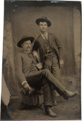 Photography:Tintypes, [Texas Rangers]. J. Walter Durbin and Ira Aten Tintype Photograph....
