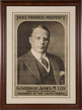 Political:Posters & Broadsides (1896-present), James M. Cox: Most Desirable Poster....