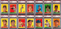 Baseball Cards:Lots, 1958 Topps Baseball Yellow Letter Variation PSA Graded Near Set(31/33). ...