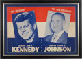 Political:Posters & Broadsides (1896-present), Kennedy & Johnson: Large and Scarce Jugate Poster....