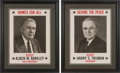 Political:Posters & Broadsides (1896-present), Truman & Barkley: Matching Posters.... (Total: 2 Items)