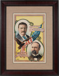 Political:Posters & Broadsides (1896-present), Roosevelt & Fairbanks: Highly Colorful and Graphic JugatePoster....