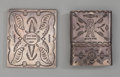 American Indian Art:Jewelry and Silverwork, Two Navajo Silver Cigarette Cases. c. 1940. ... (Total: 2 )