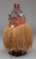 Tribal Art, A Suku Helmet Mask, Democratic Republic of the Congo...