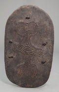 Tribal Art, A Lumi Stone-Cut Shield, Papua New Guinea. Early 20th century...