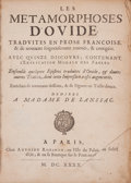 Books:Literature Pre-1900, Ovid. Les Metamorphoses D'Ovide. [with:] Le Jugement deParis. [and:] Epistres Traduites D'Ovid....