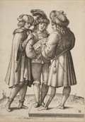 Books:Prints & Leaves, [Engraving]. Luca Ciamberlano. The Singers. Italy: Earlyseventeenth century....