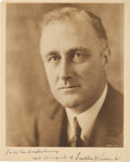 Autographs:U.S. Presidents, Franklin D. Roosevelt: Youthful Signed Portrait....