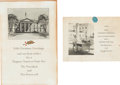 Political:Presidential Relics, Franklin D. Roosevelt: War-date White House Christmas Cards.... (Total: 2 Items)