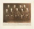 Autographs:Statesmen, William H. Taft Supreme Court Photograph Signed by All NineJustices, circa 1923-1925....