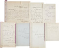 Autographs:Authors, [Nineteenth Century Authors and Artists]. Group of Seven Letters...