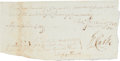 Autographs:Military Figures, [Revolutionary War]. George Rogers Clark Document Signed....