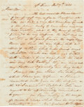 Autographs:Military Figures, William Clark Autograph Letter Signed...