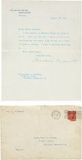 Autographs:U.S. Presidents, Theodore Roosevelt Typed Letter Signed... (Total: 2 )