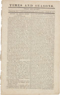 Miscellaneous:Newspaper, [Joseph Smith]. Times and Seasons Vol. V, Number 17, Sept.15, 1844. ...