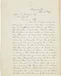Militaria:Ephemera, [Sherman's March to the Sea]. Herschel V. Johnson Autograph LetterSigned. ...