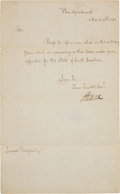Autographs:Statesmen, Henry Knox Letter Signed as Secretary of War. ...