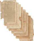 Miscellaneous:Newspaper, [Napoleon]. Group of Eight Issues of the Boston Gazette. ...