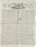 Miscellaneous:Newspaper, [Abraham Lincoln]. Newspaper: The Sunday Chronicle....