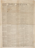 Miscellaneous:Newspaper, [Battle of Perryville]. Newspapers: Daily Dispatch....