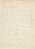 Autographs:Non-American, Erwin Rommel Autograph Letter Twice Signed to Adolf Hitler....