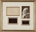 Autographs:Authors, Julia Ward Howe Autograph Quotation Signed....