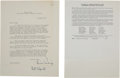 Autographs:Celebrities, Linus Pauling Typed Letter Signed and Insert....