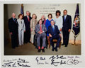 Autographs:U.S. Presidents, Photograph of Five Presidents and First Ladies Signed....