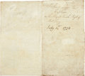Autographs:Non-American, King George III of England Military Appointment Signed...