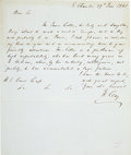 Autographs:Statesmen, Henry Clay Autograph Letter Signed with Two Engraved Portraits....