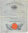 Autographs:Military Figures, Gideon Welles Military Appointment Signed. ...