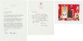 Autographs:U.S. Presidents, Bill Clinton: Autograph Letter Signed, Typed Letter with an Autopen Signature, and Christmas Card....