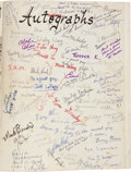 Autographs:U.S. Presidents, Barack Obama Signed Elementary School Yearbook....