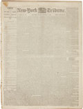 Miscellaneous:Newspaper, [Civil War]. Newspapers: New-York Daily Tribune, One Issue and One Partial Issue....