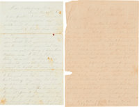 CSA Soldier's Letters by H. Davis of Georgia