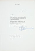 Autographs:Artists, Walt Disney Typed Letter Signed....