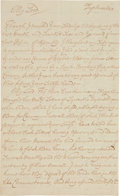 Autographs:Statesmen, [Pirate Richard Clarke/Penn vs. Baltimore Dispute]. Autograph JohnSeymour Letter Signed. ...