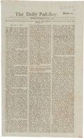 Miscellaneous:Newspaper, [Founding of the Georgia Colony] [James Oglethorpe]. Newspaper:The Daily Post-Boy, Numb. 7953. ...